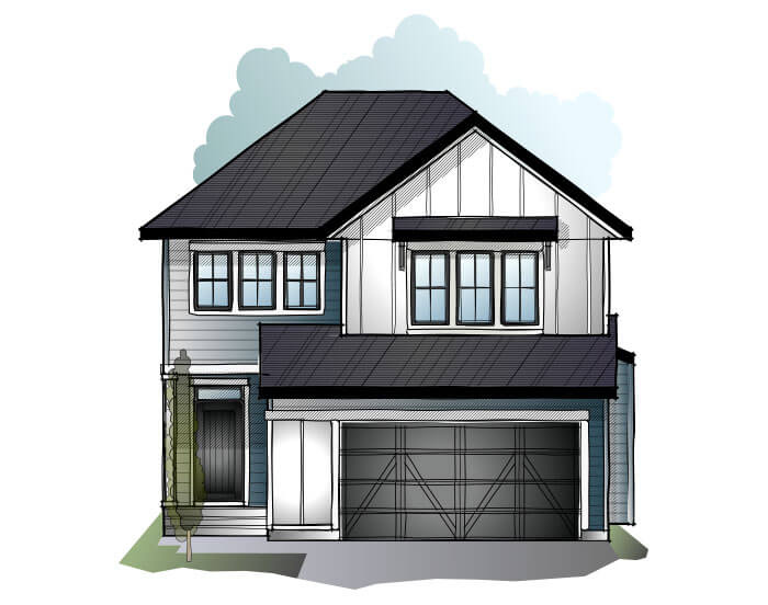 New home in GRAFTON 2 in Shawnee Park, 2,300 SQFT, 3 Bedroom, 2.5 Bath, Starting at 720,000 - Cardel Homes Calgary