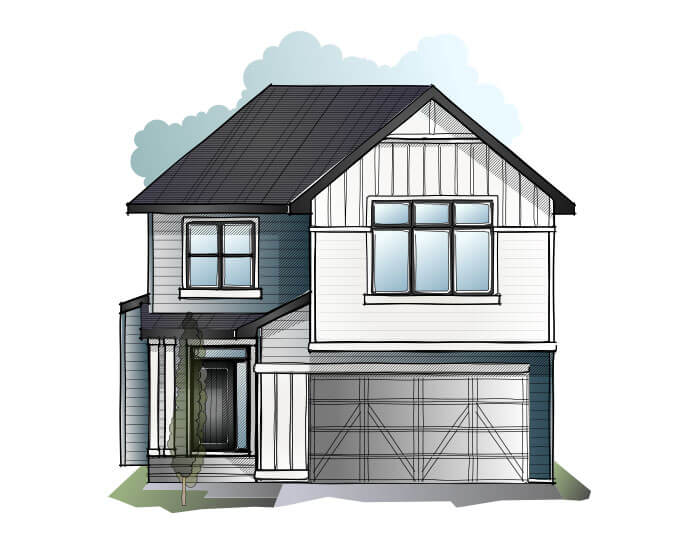 New home in WINSLOW in Shawnee Park, 2,410 SQFT, 3 Bedroom, 2.5 Bath, Starting at 750,000 - Cardel Homes Calgary