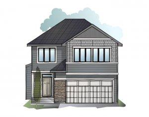 Winslow - Shingle S1 Elevation - 2,410 sqft, 3 Bedroom, 2.5 Bathroom - Cardel Homes Calgary