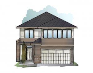 Winslow - Prairie S3 Elevation - 2,410 sqft, 3 Bedroom, 2.5 Bathroom - Cardel Homes Calgary