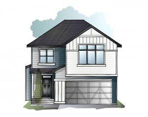 Winslow - Prairie S4 Elevation - 2,410 sqft, 3 Bedroom, 2.5 Bathroom - Cardel Homes Calgary