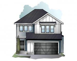 Grafton 2 - Farmhouse S4 Elevation - 2,300 sqft, 3 Bedroom, 2.5 Bathroom - Cardel Homes Calgary