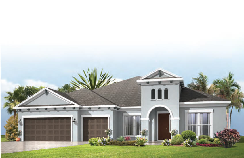 New Tampa Single Family Home Quick Possession Henley in Bexley, located at 4479 Tour Trace, Land O' Lakes, FL Built By Cardel Homes Tampa