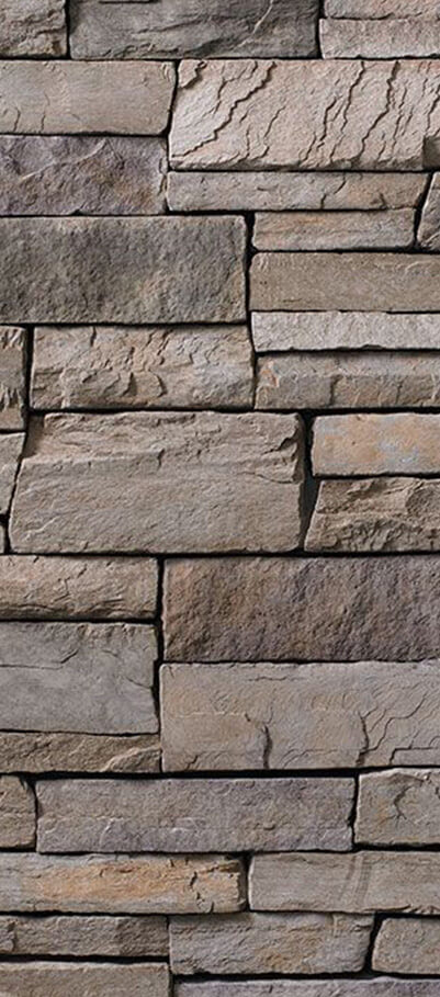 Ashfall Country Ledgestone - Tight fitted mortar joints