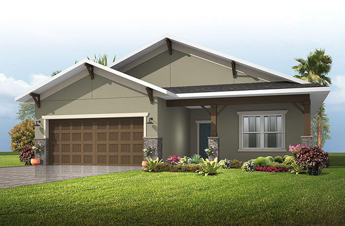 New Tampa Single Family Home Quick Possession Brighton in Sandhill Ridge, located at 11415 Tanner Ridge Place, Riverview, FL (LOT 29) Built By Cardel Homes Tampa