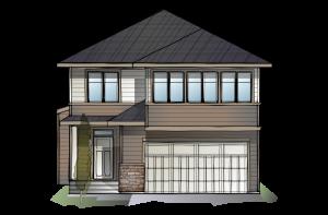 SP-WINSLOW-SP-PRAIRIE-S3 Elevation - 2,410 sqft, 3 Bedroom, 2.5 Bathroom - Cardel Homes Calgary