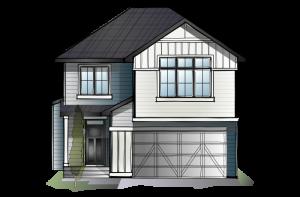 SP-WINSLOW-SP-PRAIRIE-S4 Elevation - 2,410 sqft, 3 Bedroom, 2.5 Bathroom - Cardel Homes Calgary