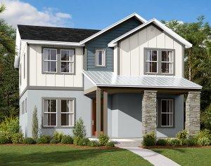 Harmony-LP - Elev D Elevation - 2,716 sqft, 4-5 Bedroom, 3 Bathroom - Cardel Homes Tampa