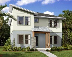 Liberty - Elev B Elevation - 2,445 sqft, 4-5 Bedroom, 3 Bathroom - Cardel Homes Tampa