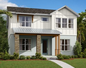Symphony - Elev D Elevation - 3,125 sqft, 4-5 Bedroom, 3 Bathroom - Cardel Homes Tampa