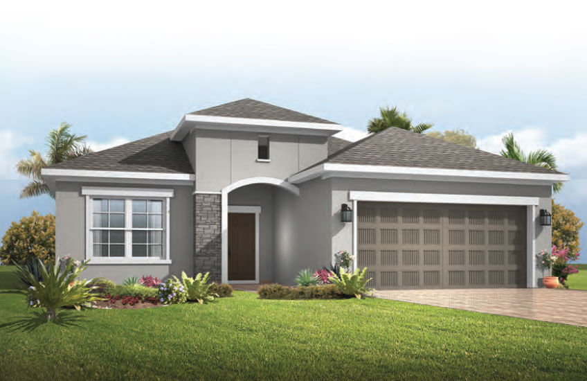 New Tampa Single Family Home Quick Possession Brighton in Waterset, located at 5615 Silver Sun Drive, Apollo Beach (LOT 16) Built By Cardel Homes