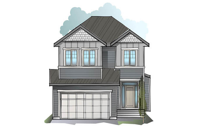 New Calgary Single Family Home Quick Possession Miro 2 in Shawnee Park, located at 61 Shawnee Heath SW Built By Cardel Homes