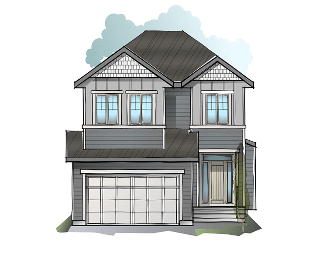 New Calgary Single Family Home Quick Possession Miro 2 in Shawnee Park, located at 61 Shawnee Heath SW Built By Cardel Homes Calgary