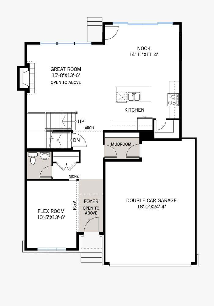 The Durham home main floor quick possession in Blackstone in Kanata South, located at 263 Condado Crescent Ottawa Built By Cardel Homes