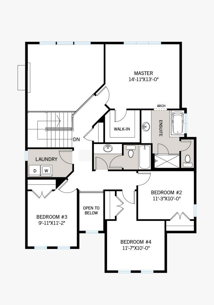 The Durham home upper floor quick possession in Blackstone in Kanata South, located at 263 Condado Crescent Ottawa Built By Cardel Homes