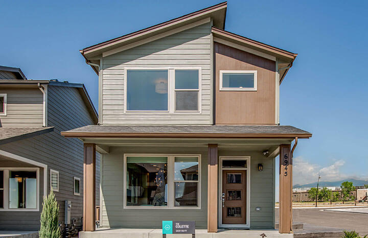 New Denver Single Family Home Quick Possession Colette in Westminster Station, located at 6945 Canosa Street, Denver Built By Cardel Homes