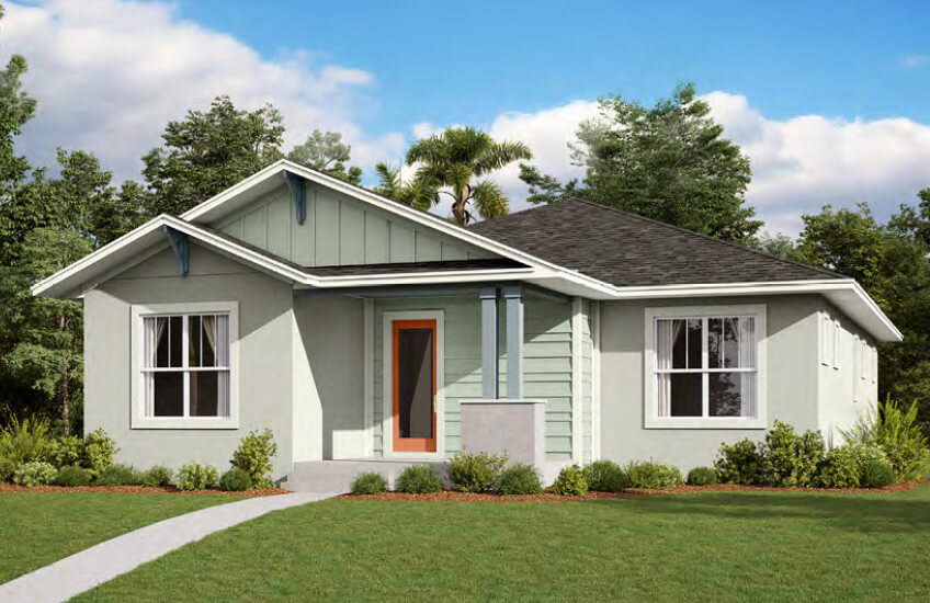 New Tampa Single Family Home Quick Possession Elation in Laureate Park in Lake Nona, located at 6733 Arnoldson Street, Orlando, FL 32827 Built By Cardel Homes