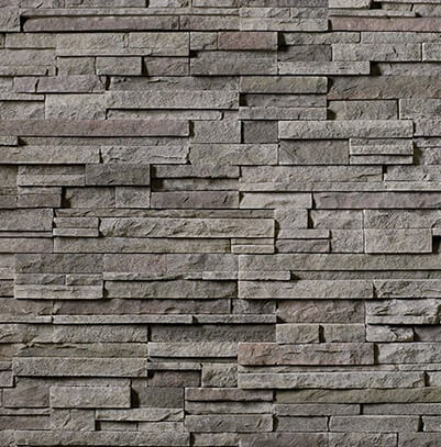Boral Black Mountain Pro-Fit Alpine Ledgestone (tight-fitted mortar joints)