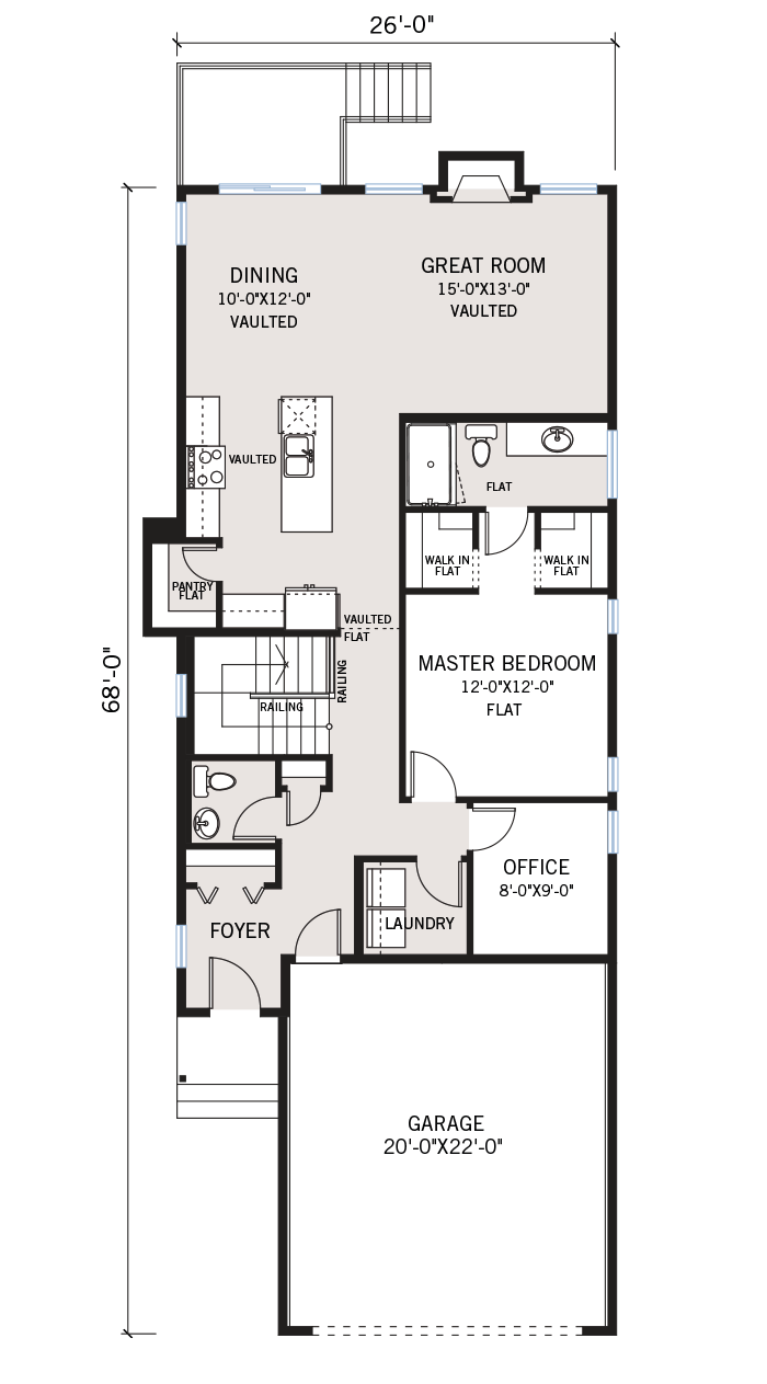 The Hudson home main floor quick possession in Walden, located at 119 Walgrove Green SE Calgary Built By Cardel Homes