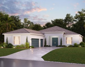 Asher - Traditional A Elevation - 2,300 sqft, 3 Bedroom, 3 Bathroom - Cardel Homes Tampa