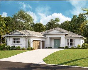 Asher - West Indies C Elevation - 2,300 sqft, 3 Bedroom, 3 Bathroom - Cardel Homes Tampa
