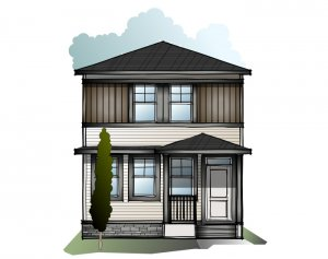 Indigo 3 - Prairie C2 Elevation - 1,412 sqft, 3 Bedroom, 2.5 Bathroom - Cardel Homes Calgary