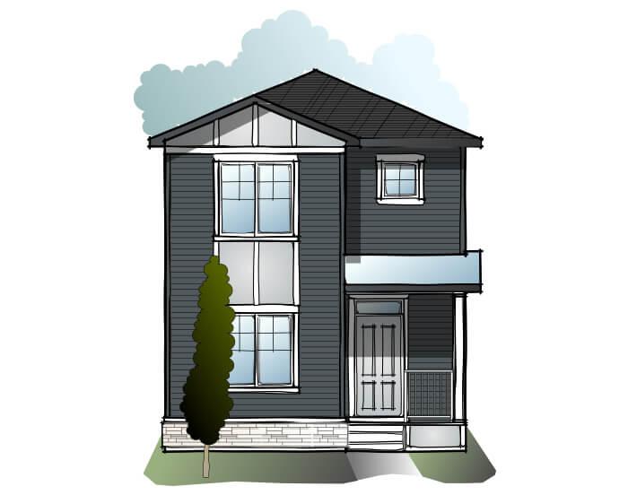 Mensa 3 - Craftsman C1 Elevation - 1,752 sqft, 4 Bedroom, 3 Bathroom - Cardel Homes Calgary