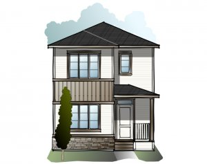 Mensa 3 - Craftsman C2 Elevation - 1,752 sqft, 4 Bedroom, 3 Bathroom - Cardel Homes Calgary