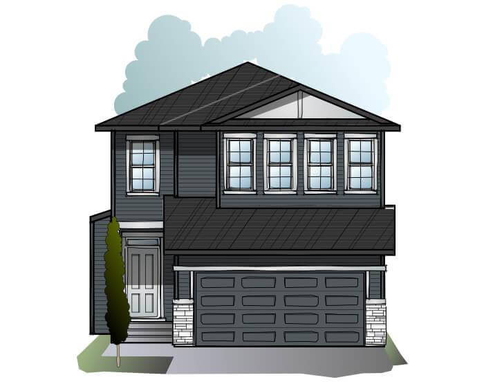 Modena - Farmhouse C3 Elevation - 2,662 sqft, 5 Bedroom, 4 Bathroom - Cardel Homes Calgary