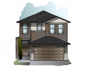 Modena - Craftsman C1 Elevation - 2,662 sqft, 5 Bedroom, 4 Bathroom - Cardel Homes Calgary