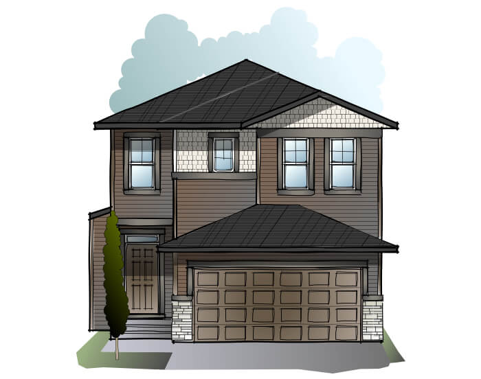 New home in MODENA in Cornerbrook, 2,662 SQFT, 5 Bedroom, 4 Bath, Starting at  - Cardel Homes Calgary