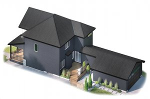 HILLSHIRE-elevation-2 Elevation - 2,105 sqft, 3 Bedroom, 2.5 Bathroom - Cardel Homes Calgary