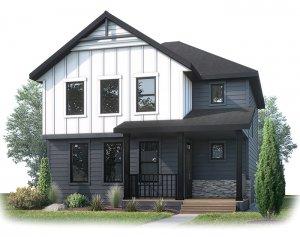 Hillshire-S4 Elevation - 2,105 sqft, 3 Bedroom, 2.5 Bathroom - Cardel Homes Calgary