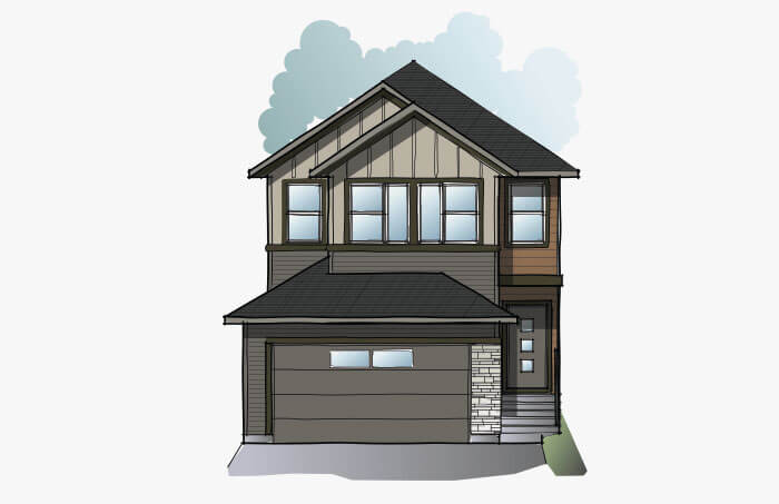 New Calgary Single Family Home Quick Possession EVO 1 in Walden, located at 47 Walden Place SE Built By Cardel Homes Calgary