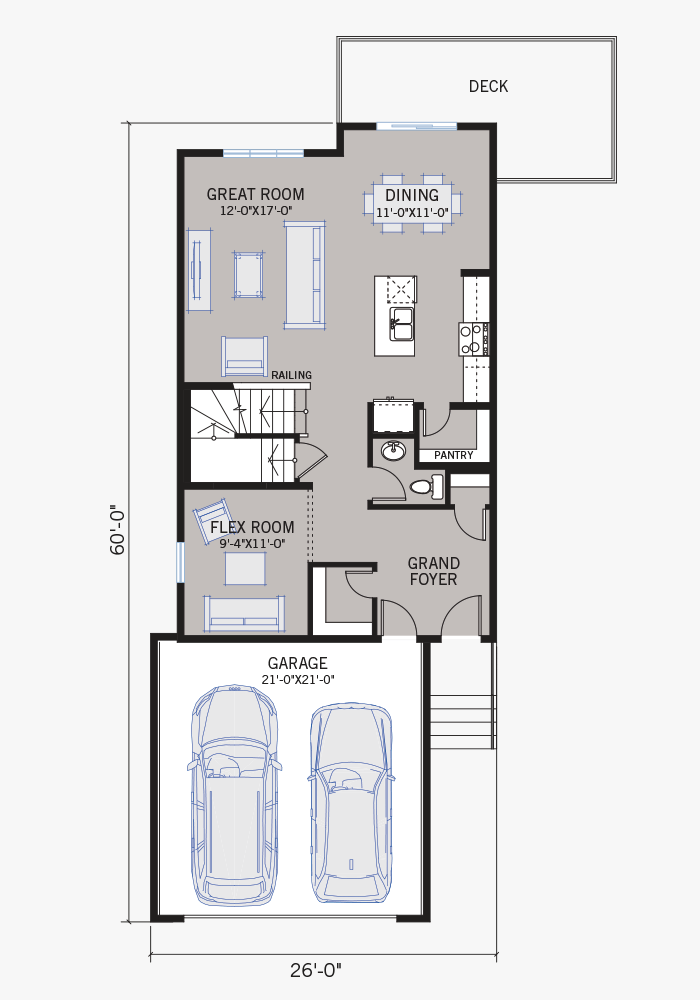 The EVO 1 home main floor quick possession in Walden, located at 47 Walden Place SE Calgary Built By Cardel Homes