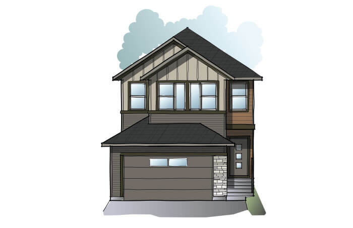 New Calgary Single Family Home Quick Possession EVO 1 in Walden, located at 47 Walden Place SE Built By Cardel Homes