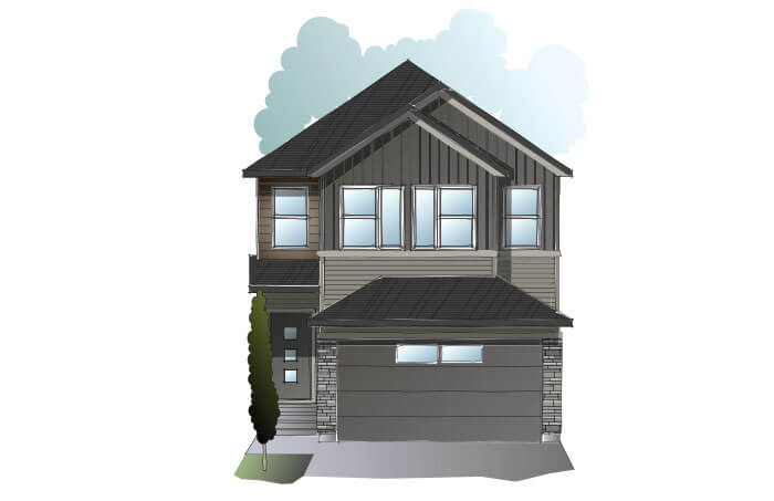 New Calgary Single Family Home Quick Possession EVO 1 in Savanna, located at 95 Savanna Lane NE Built By Cardel Homes
