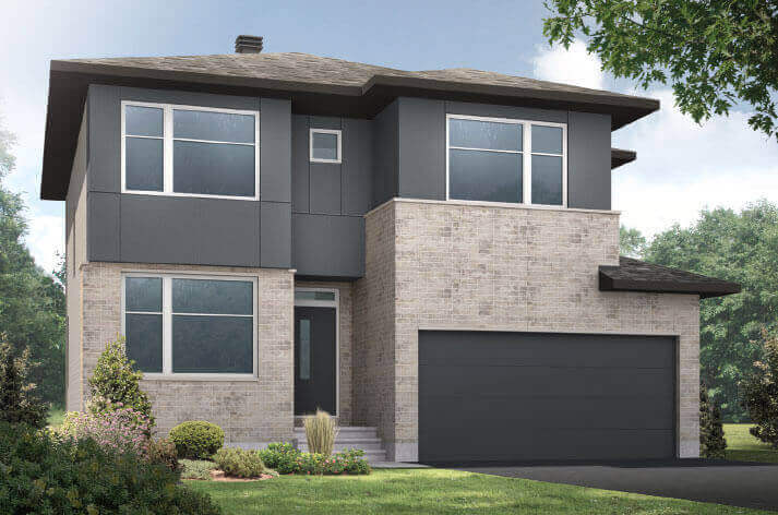 New Ottawa Single Family Home Quick Possession Cornell in Millers Crossing in Carleton Place, located at 4 Flegg Way Built By Cardel Homes