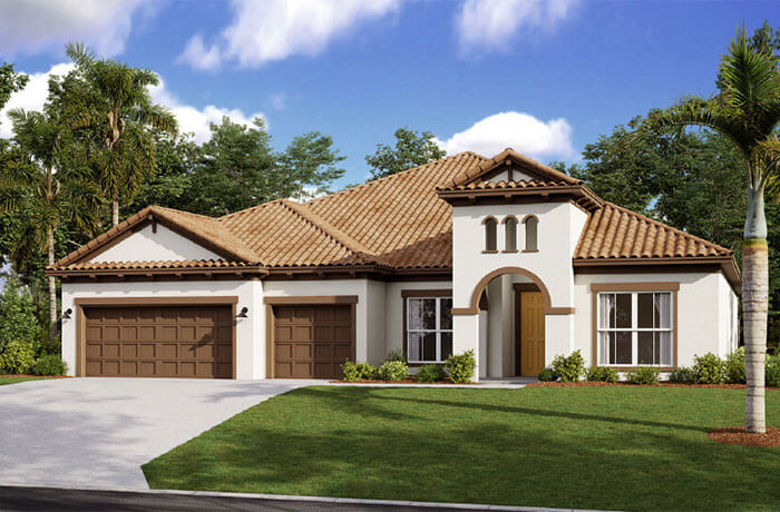 New Tampa Single Family Home Quick Possession Henley in Worthington, located at 4625 Antrim Dr, Sarasota, FL 34240 Built By Cardel Homes