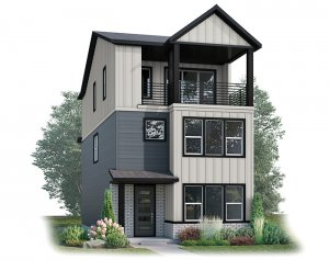 Raine - Modern Farmhouse B Elevation - 2,564 sqft, 4 Bedroom, 3.5 Bathroom - Cardel Homes Denver