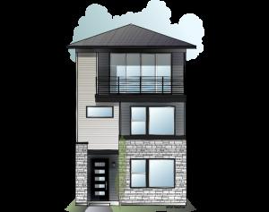 Lucia - Fusion Prairie A Elevation - 2,442 sqft, 3 Bedroom, 3.5 Bathroom - Cardel Homes Denver