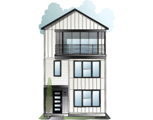 Lucia - Modern Farmhouse B Elevation - 2,442 sqft, 3 Bedroom, 3.5 Bathroom - Cardel Homes Denver