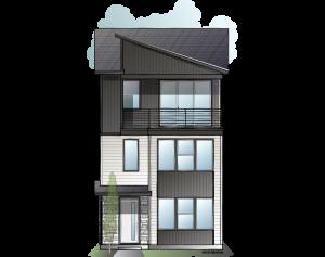 Raine - Contemporary C Elevation - 2,564 sqft, 4 Bedroom, 3.5 Bathroom - Cardel Homes Denver