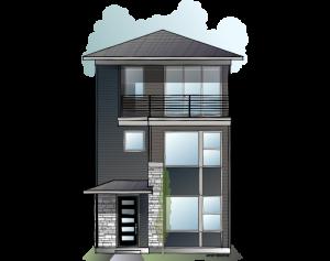 Raine - Fusion Prairie A Elevation - 2,564 sqft, 4 Bedroom, 3.5 Bathroom - Cardel Homes Denver