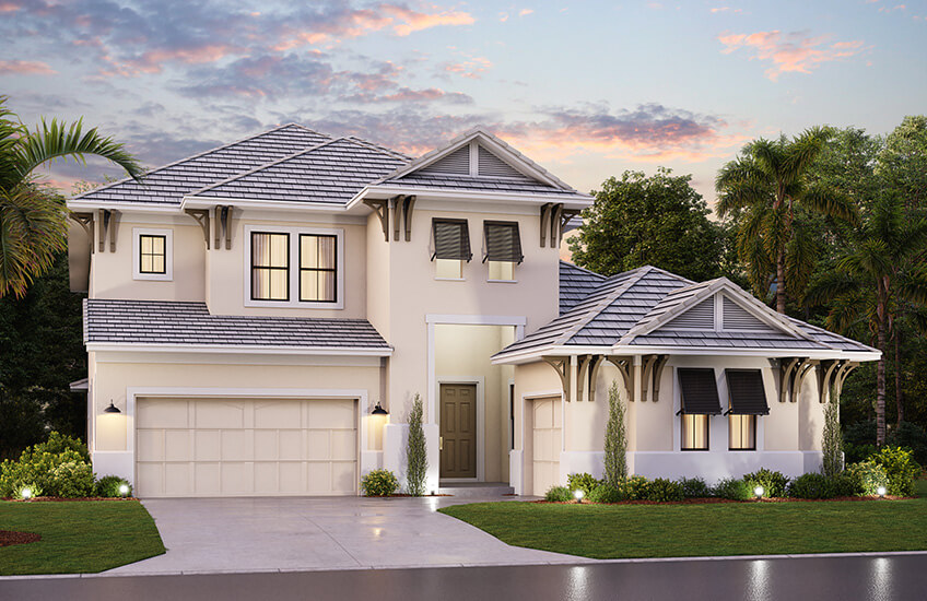 New Tampa Single Family Home Quick Possession Palazzo in Lakewood Ranch, located at 7516 Windy Hill Cove, Bradenton, FL (Lot 34) Built By Cardel Homes