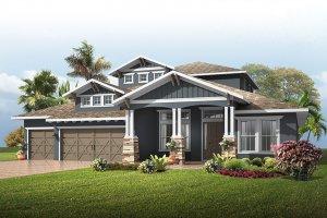 St.Lucia-SouthernCraftsman Elevation - 3,952 sqft, 5 Bedroom, 4 Bathroom - Cardel Homes Tampa