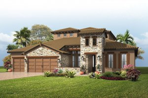 St.Lucia-TuscanCottage Elevation - 3,952 sqft, 5 Bedroom, 4 Bathroom - Cardel Homes Tampa