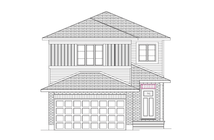 Neuvo 1-EW - Canadiana B1 Elevation - 2,040 sqft, 3-4 Bedroom, 2.5 Bathroom - Cardel Homes Ottawa