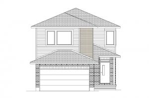 Neuvo 1-EW - Modern B3 Elevation - 2,040 sqft, 3-4 Bedroom, 2.5 Bathroom - Cardel Homes Ottawa