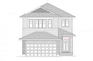 Neuvo 1-EW - Canadiana B4 Elevation - 2,040 sqft, 3-4 Bedroom, 2.5 Bathroom - Cardel Homes Ottawa